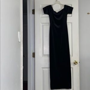 Black dress with a slit on the side